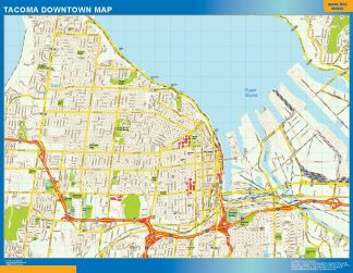 Biggest Tacoma downtown map