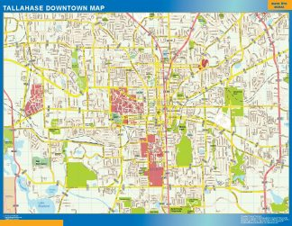 Biggest Tallahase downtown map