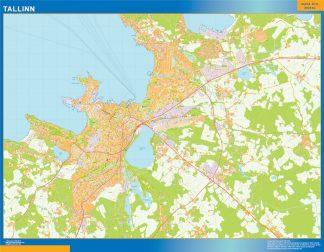 Biggest Tallinn wall map