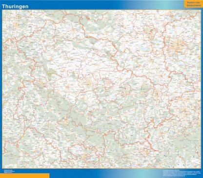Biggest Thuringen map