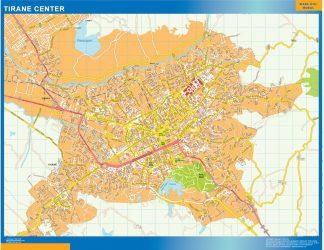 Biggest Tirane downtown map