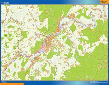 Biggest Trier map in Germany