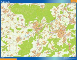 Biggest Tubingen map in Germany