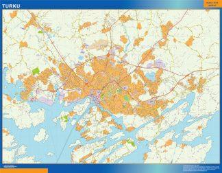 Biggest Turku map Finland