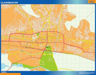 Biggest Ulaanbaatar laminated map