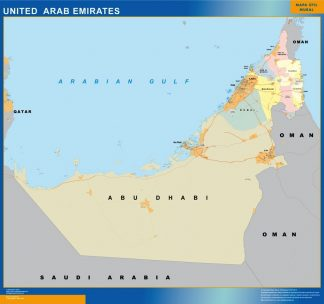 Biggest United Arab Emirates map