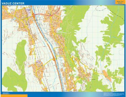 Biggest Vaduz downtown map