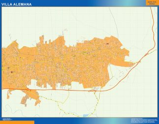 Biggest Villa Alemana map from Chile