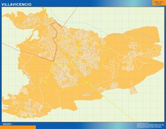 Biggest Villavicencio map in Colombia