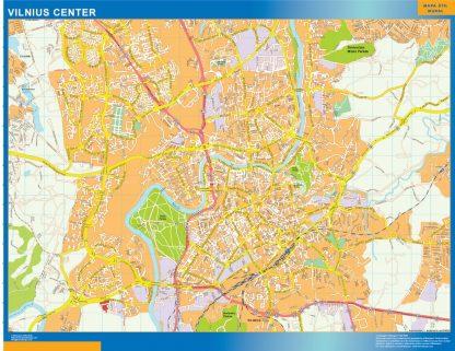 Biggest Vilnius downtown map