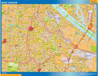 Biggest Wien downtown map