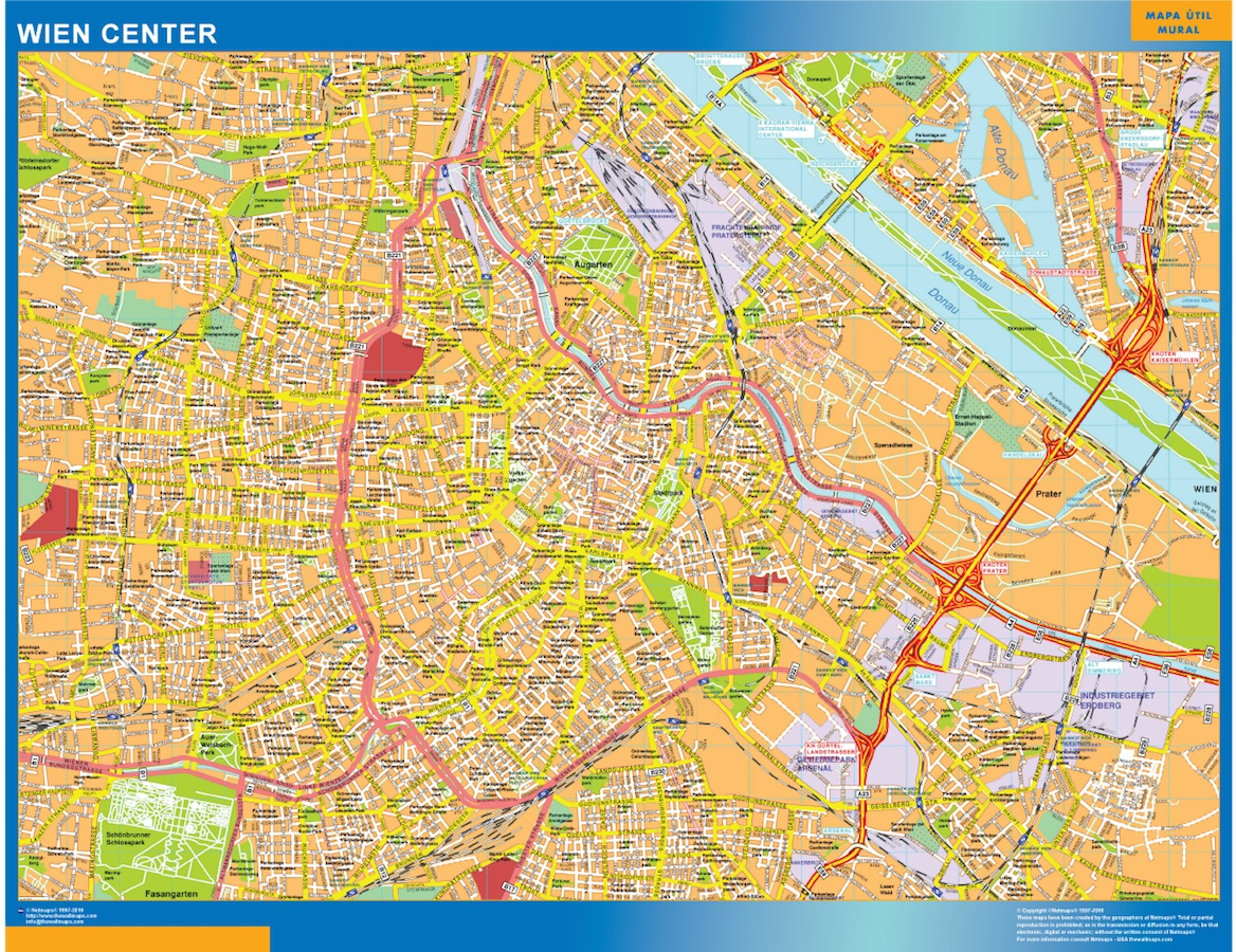 Biggest Wien Downtown Map Wall Maps Of The World Countries For