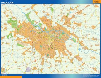 Biggest Wroclaw map Poland