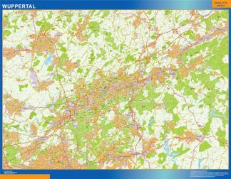 Biggest Wuppertal map in Germany