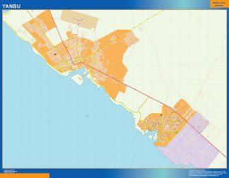 Biggest Yanbu map in Saudi Arabia