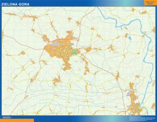 Biggest Zielona Gora map Poland