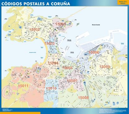 Biggest Zip codes A Coruna map