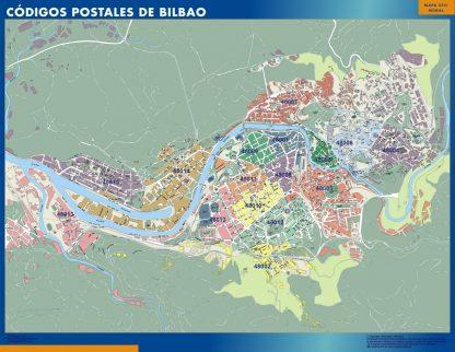 Biggest Zip codes Bilbao map