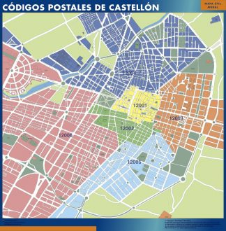 Biggest Zip codes Castellon map