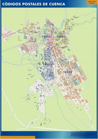 Biggest Zip codes Cuenca map