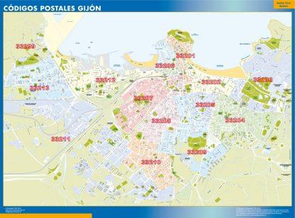 Biggest Zip codes Gijon map