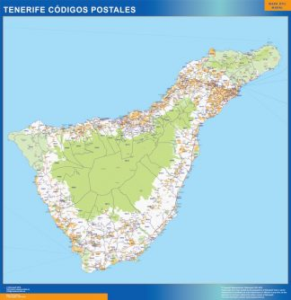 Biggest Zip codes Isla Tenerife map
