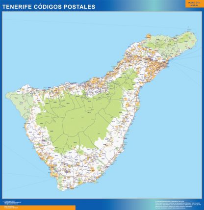 Biggest Zip codes Isla Tenerife map