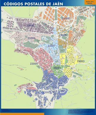 Biggest Zip codes Jaen map