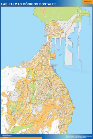 Biggest Zip codes Las Palmas map