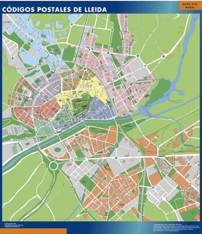 Biggest Zip codes Lleida map