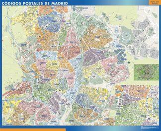 Biggest Zip codes Madrid map
