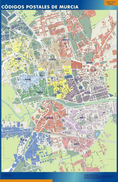 Biggest Zip codes Murcia map