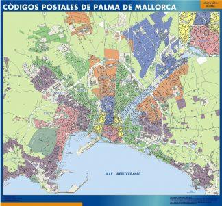 Biggest Zip codes Palma de Mallorca map