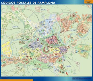 Biggest Zip codes Pamplona map