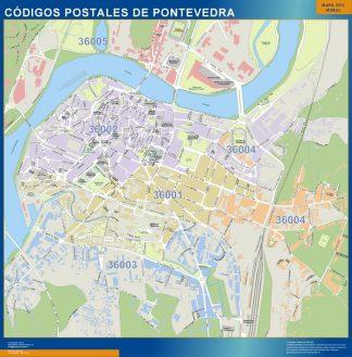 Biggest Zip codes Pontevedra map