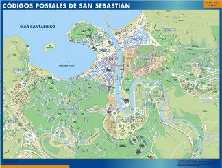 Biggest Zip codes San Sebastian map