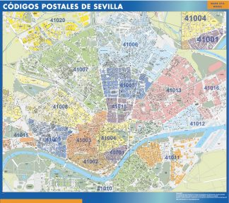 Biggest Zip codes Sevilla map