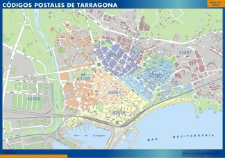 Biggest Zip codes Tarragona map