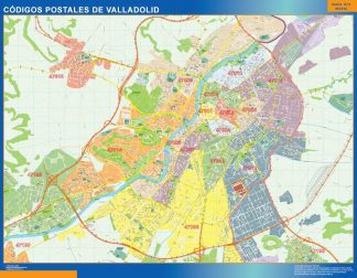 Biggest Zip codes Valladolid map