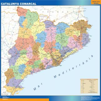Biggest map of Catalonia comarcal