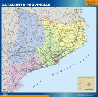 Biggest map of Catalonia provinces