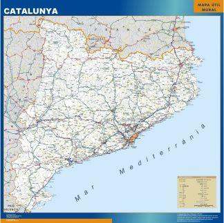 Biggest map of Catalonia roads