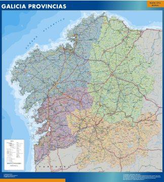 Biggest map of Galicia provinces