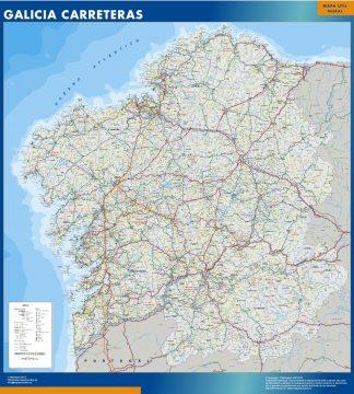 Biggest map of Galicia roads