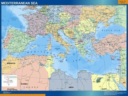 Biggest mediterranean sea wall map