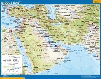 Biggest middle east wall map