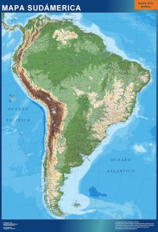 Biggest south america wall map